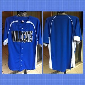 Men's Button Down Sports Jersey Wildcats Size L
